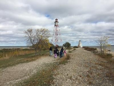 Students at Hecla Island.