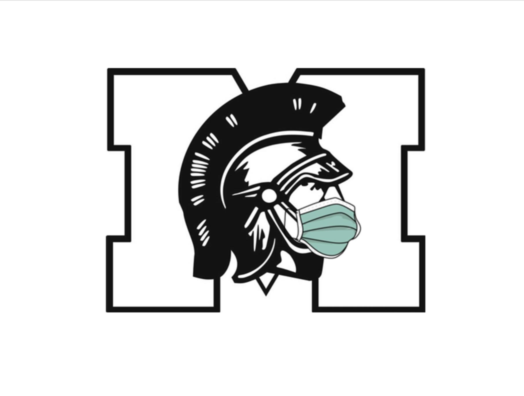 Warrior logo with mask