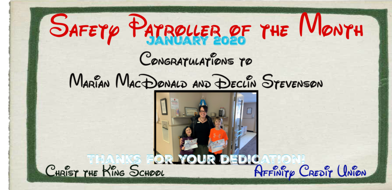 January 2020 Safety Patrollers of the Month Featured Photo