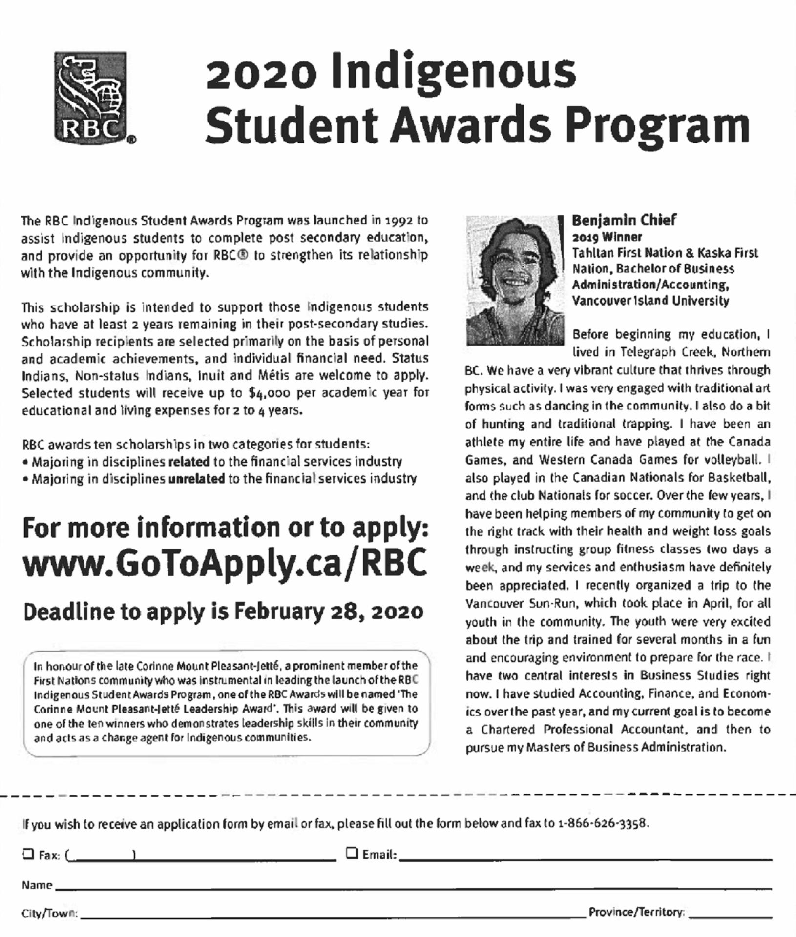 RBC Indigenous Scholarship
