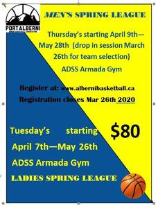 Spring league Basketball - register now Featured Photo