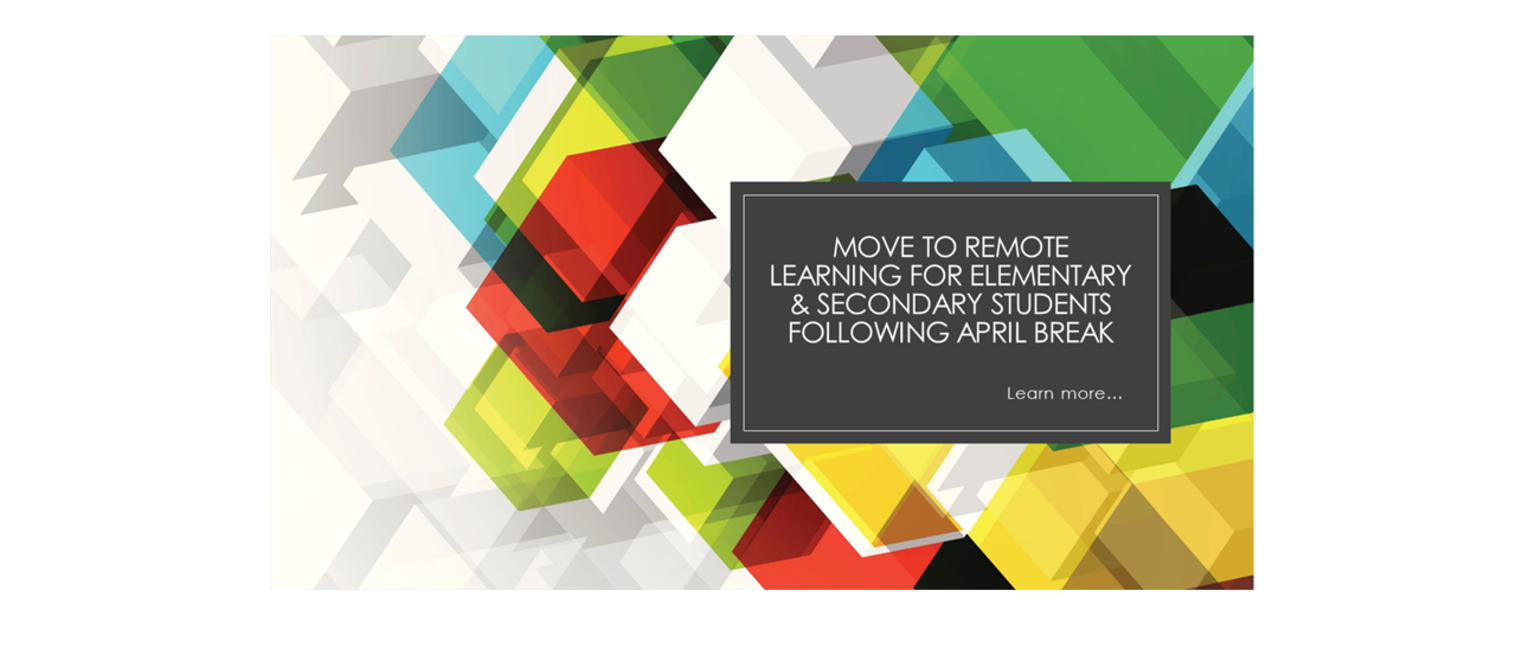remote learning notice