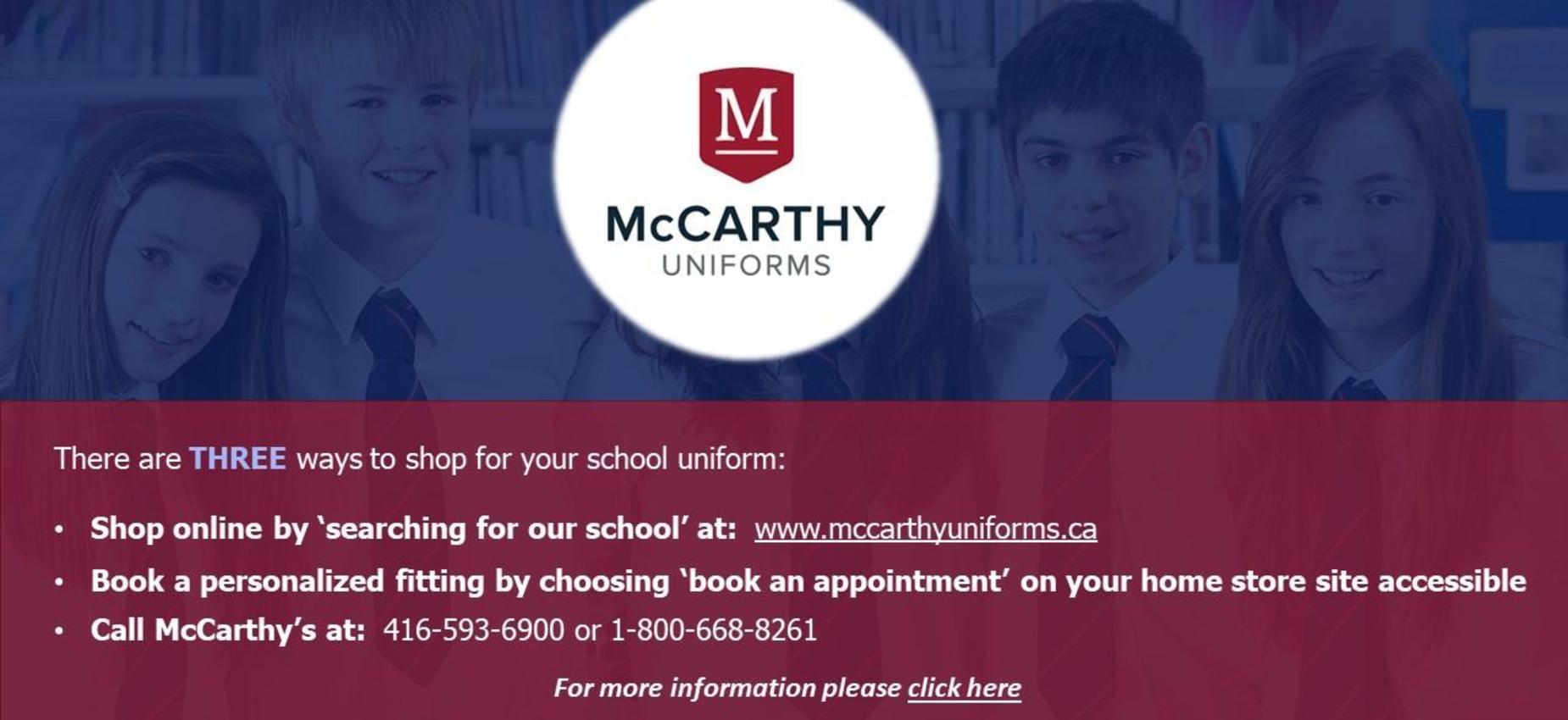 McCarthy Uniforms