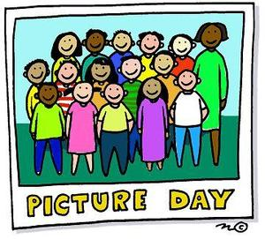 cartoon of students posing for class photo