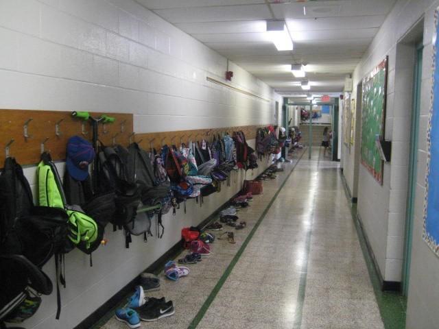 West hallway view