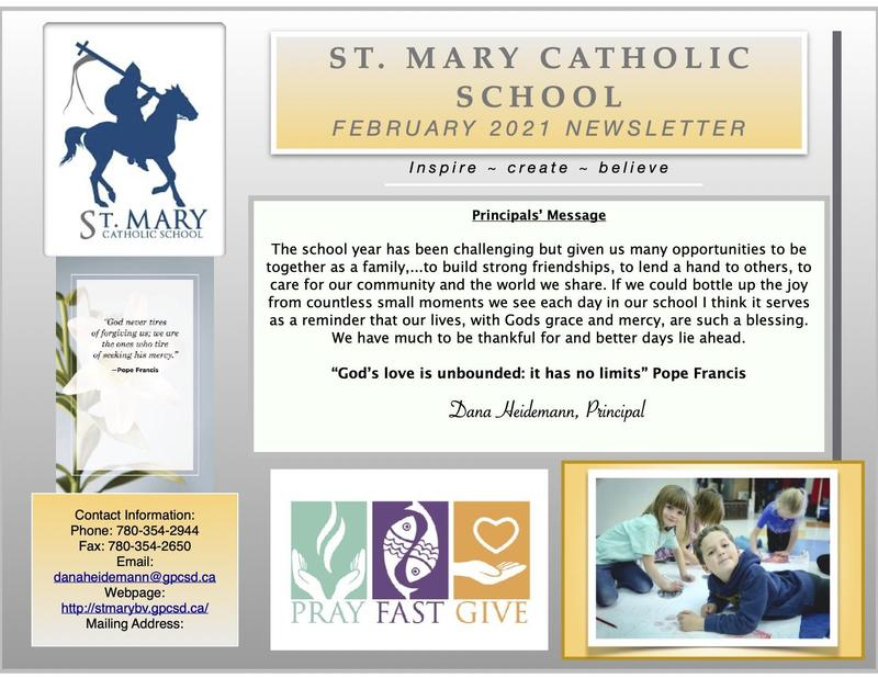 St. Mary BV February 2021 Newsletter Featured Photo