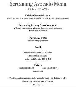 menu Oct 18-21