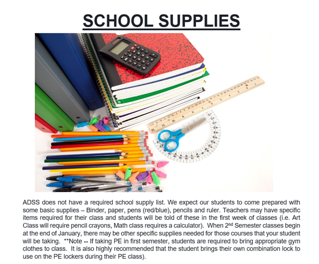 Report Card Pick Up and 2021-22 School Supply List Featured Photo