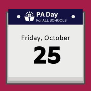 calendar that says Friday, October 25