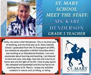 St. Mary (Beaverlodge): Kari Henerson Featured Photo