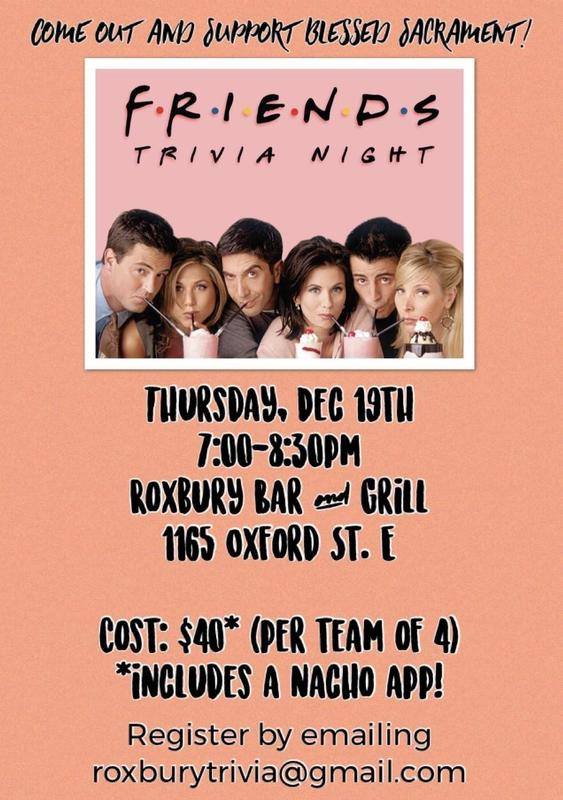 Friends Trivia Night Fundraiser- Register Payment SchoolCash online