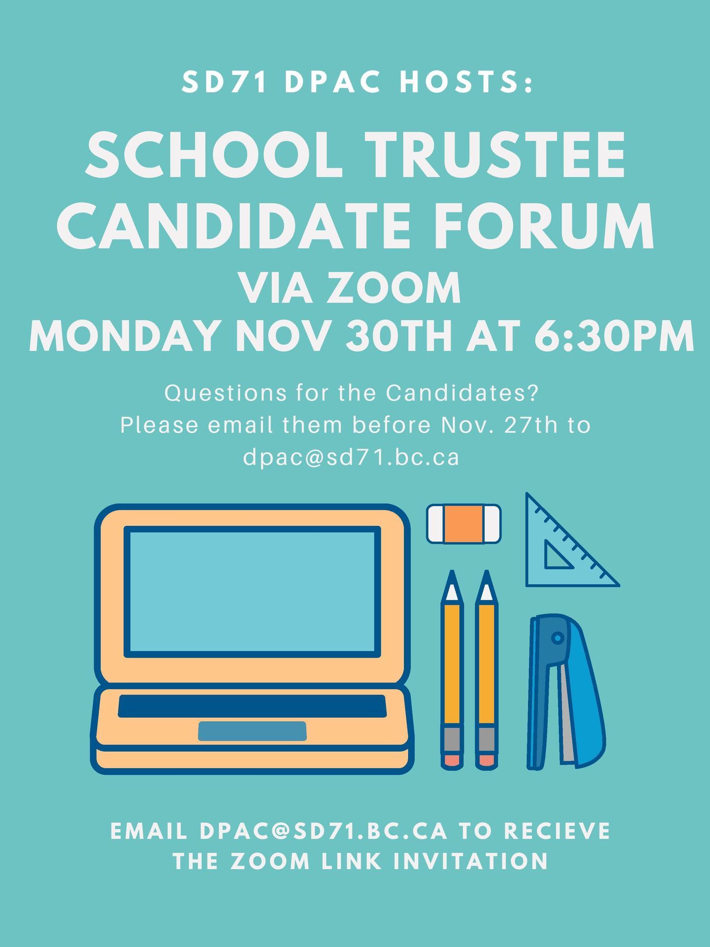 Trustee Candidate Forum