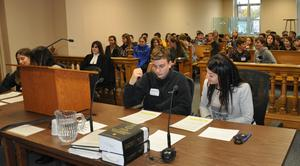 Mock trial with students