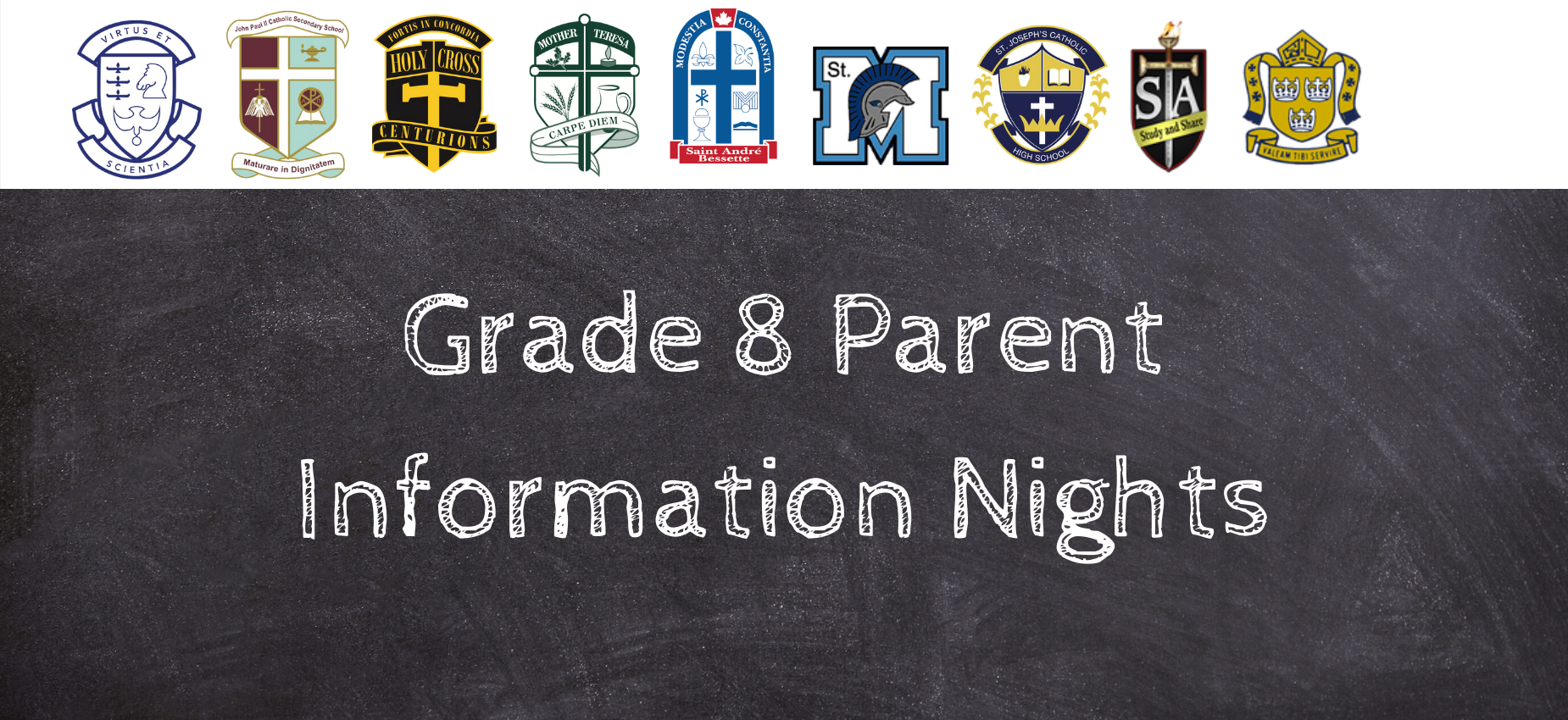 Grade 8 Parent Information Nights
