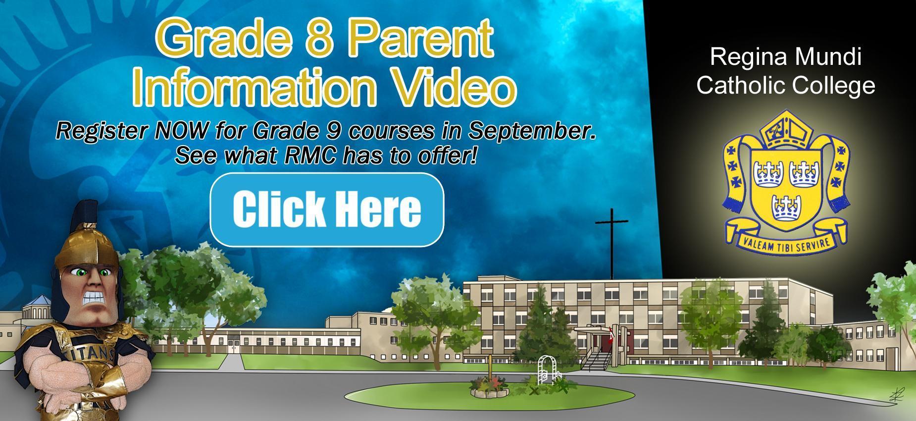 Grade 8 Parent Information Video