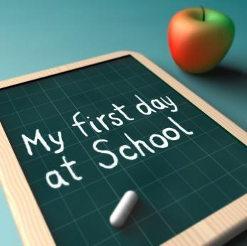 my first day at school blackboard