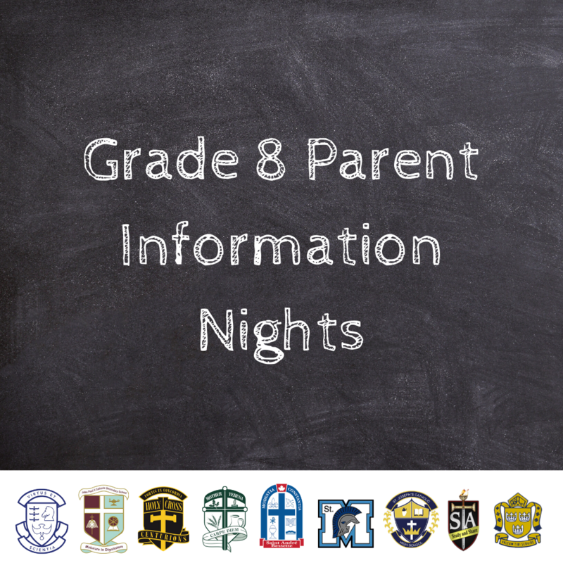 Grade 8 Parent Information Nights