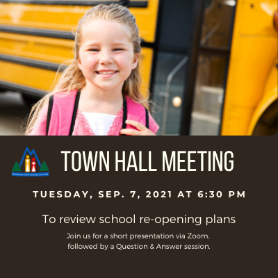 Town hall meeting - girl waiting for school bus
