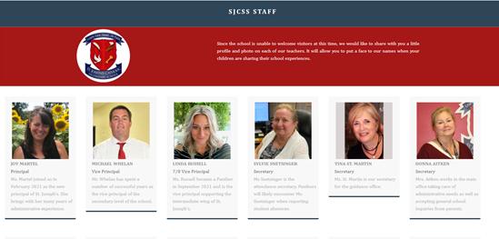 Meet the SJCSS Staff for 2021-2022 Featured Photo