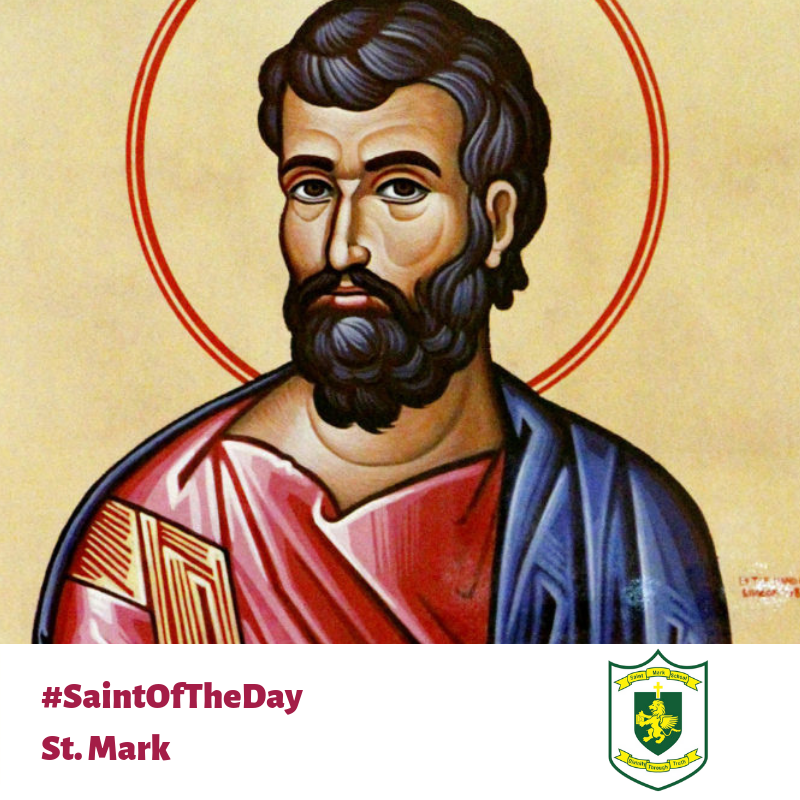 Today's #SaintofTheDay is St. Mark! #GetToKnowLDCSB