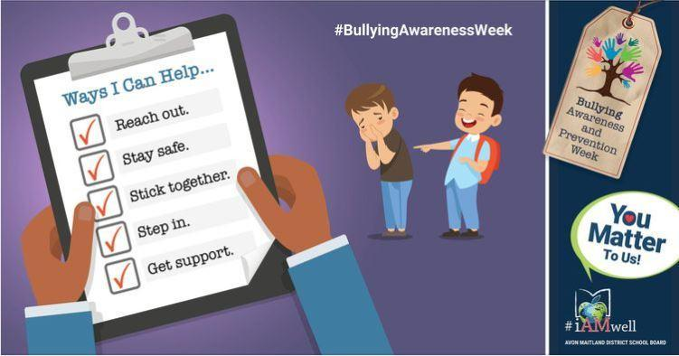 social media image for bullying awareness and prevention week