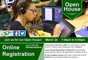 (Postponed) St. Joseph Catholic High School Open House Featured Photo
