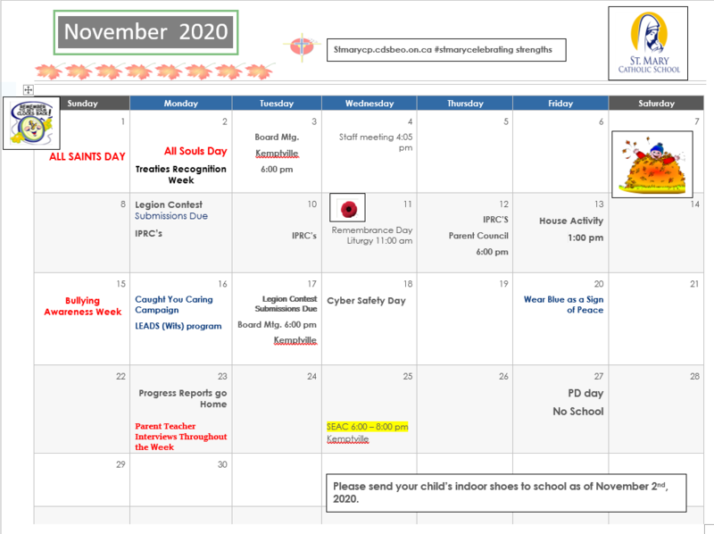 November Calendar Featured Photo