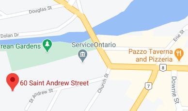 Screenshot of Google map of Stratford CEL location