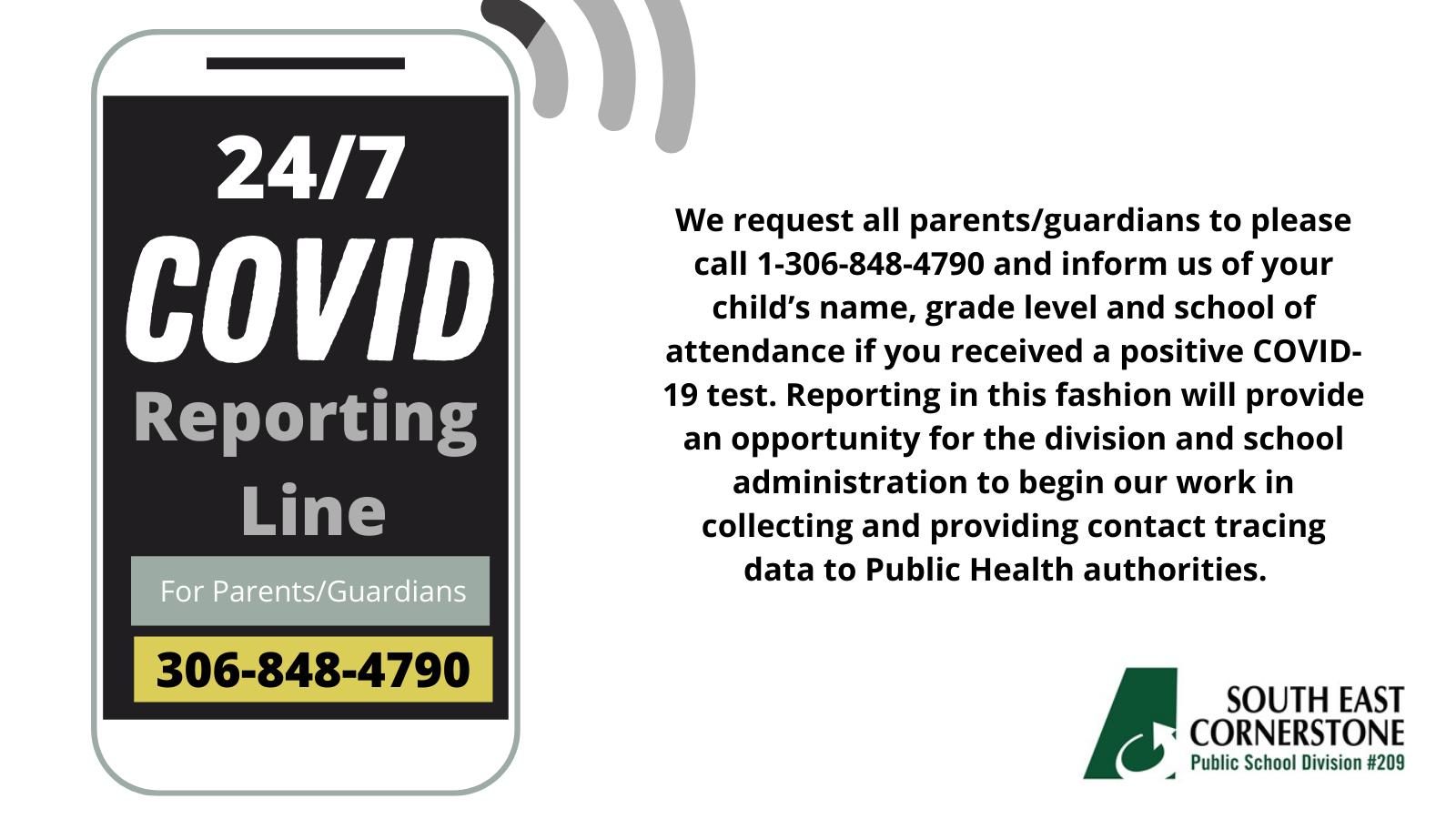 COVID Reporting Line