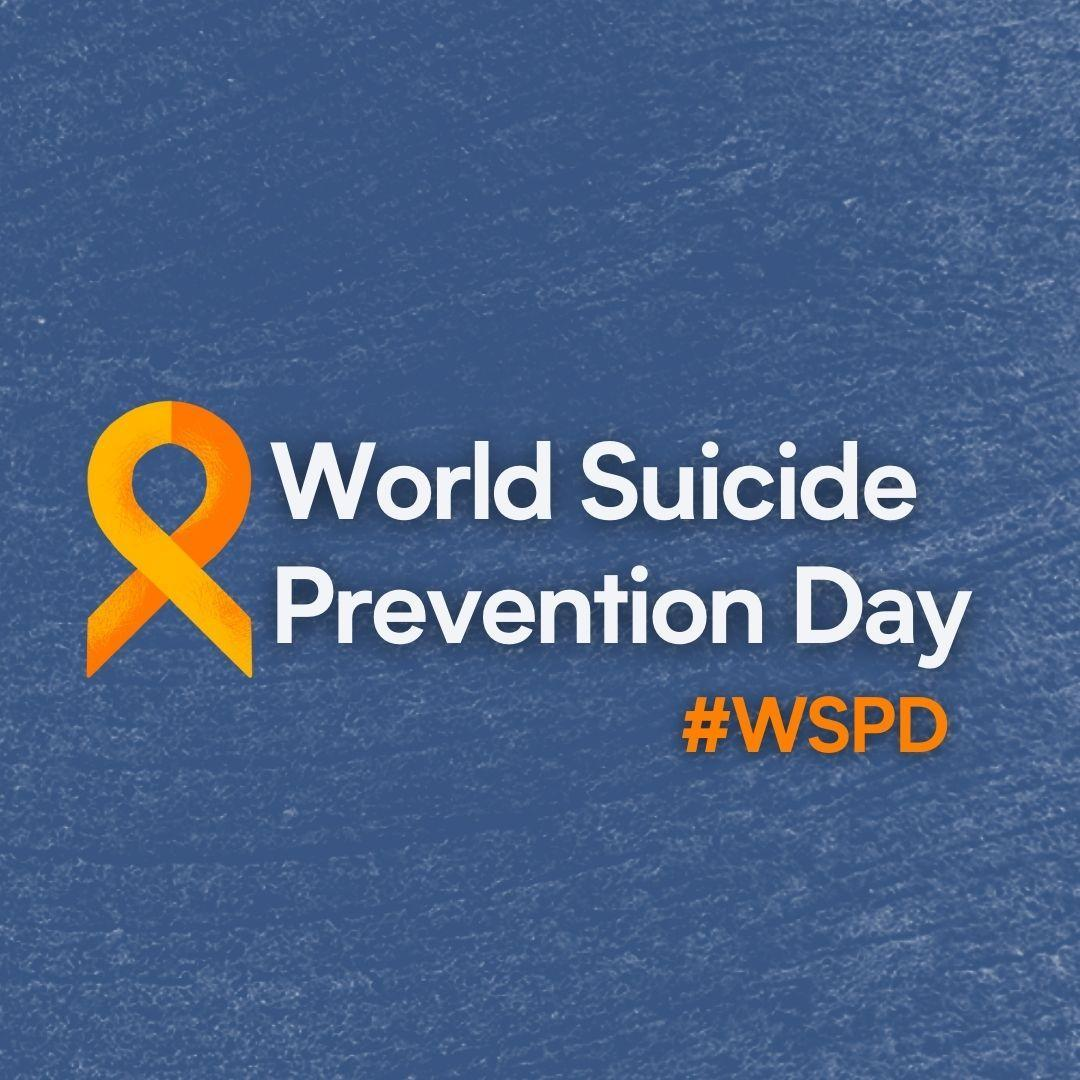 blue background with World Suicide Prevention Day