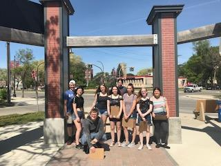 Group shot of students at Provencher Park