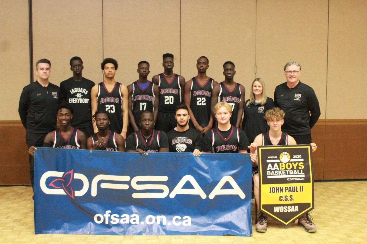 OFSAA AA Senior Boys Basketball 2020 - Consolation Champions
