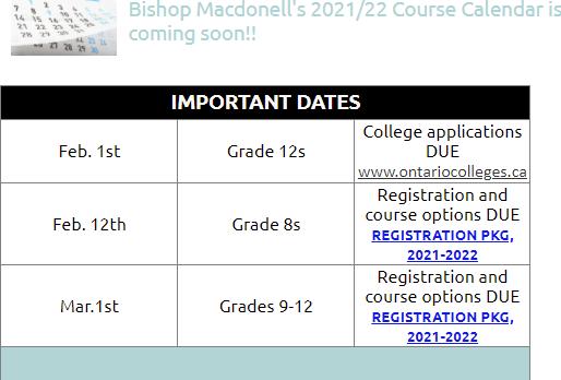 guidance dates