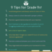 nine tips for grade nines