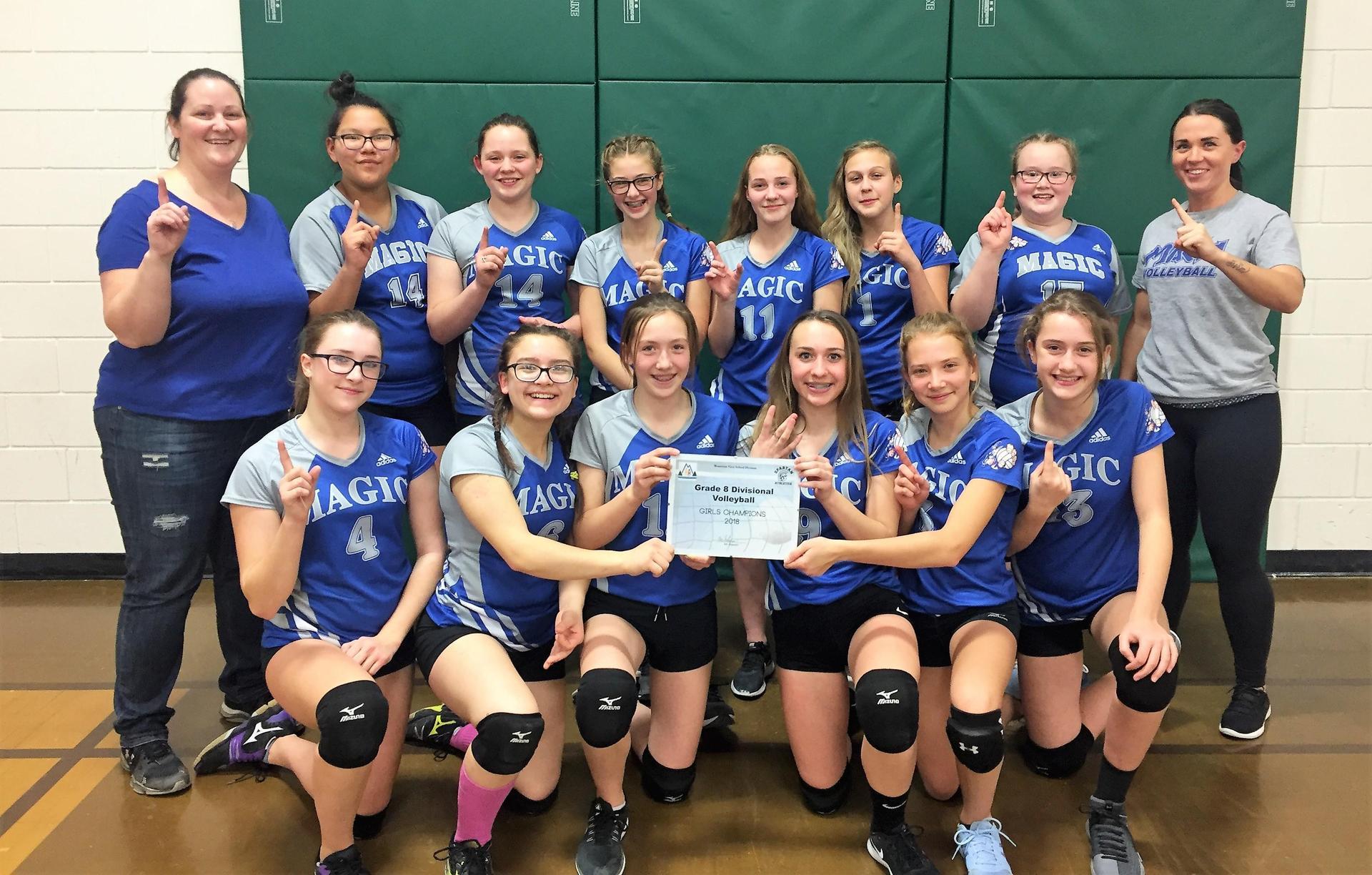 Gr. 8 Girls Divsional Champions