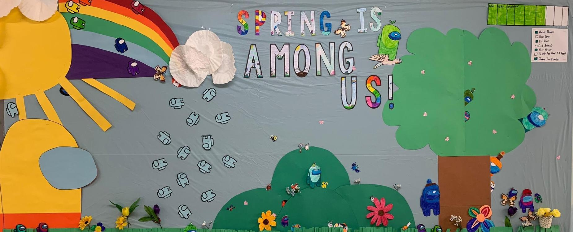 Spring is Among Us Bulletin Board