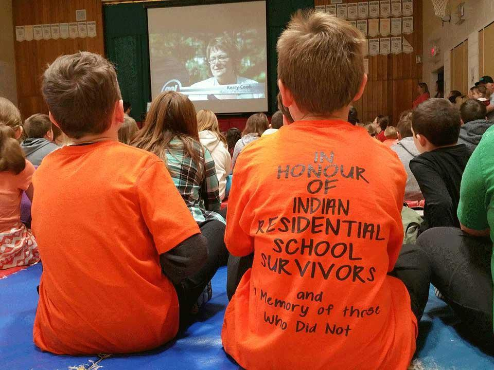 orange shirt day assembly