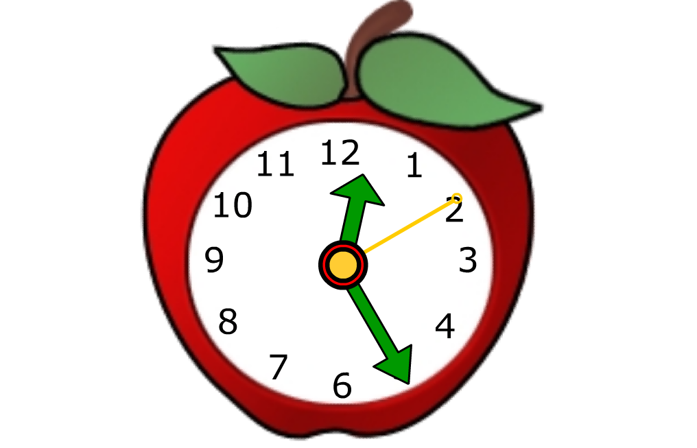 Image of a clock in the shape of an apple