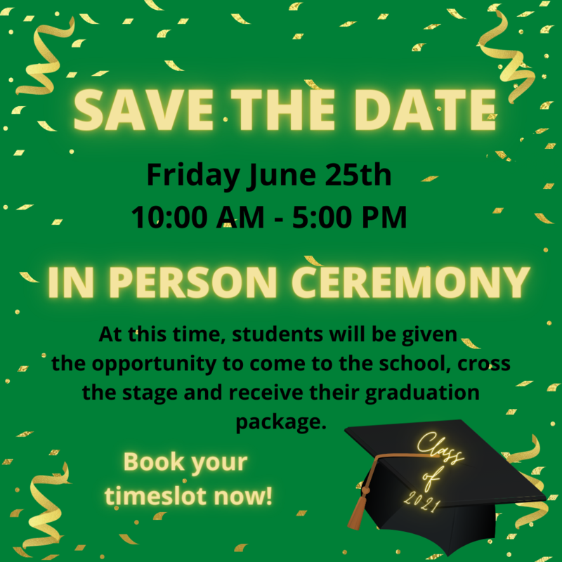 High School Class of 2021 Save the Date Featured Photo
