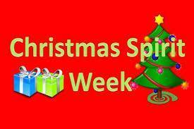 Christmas Spirit Week banner