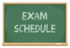 January 2020 Exam Schedule Featured Photo