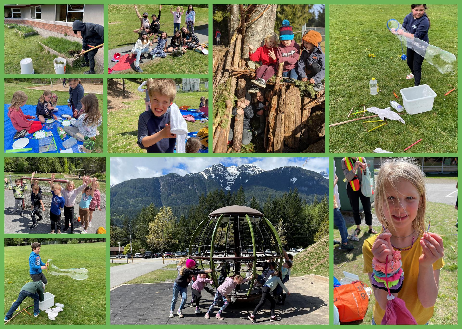 outdoor activity collage