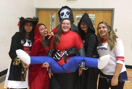 Goose Lake High students in their costumes