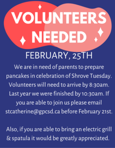 Volunteers Needed - February 25th Featured Photo