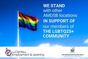 CEL & AMDSB stand together in support of the LGBTQ2S+ Community