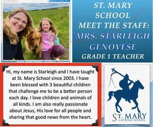St. Mary (Beaverlodge): Starleigh Genovese Featured Photo