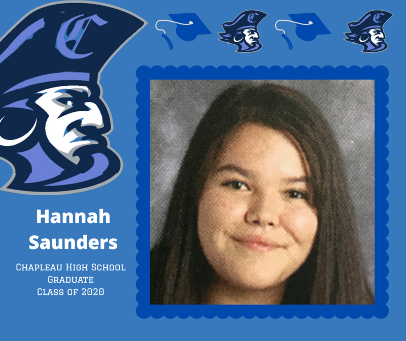 CHS Grade 12 Grad: Hannah Saunders Featured Photo