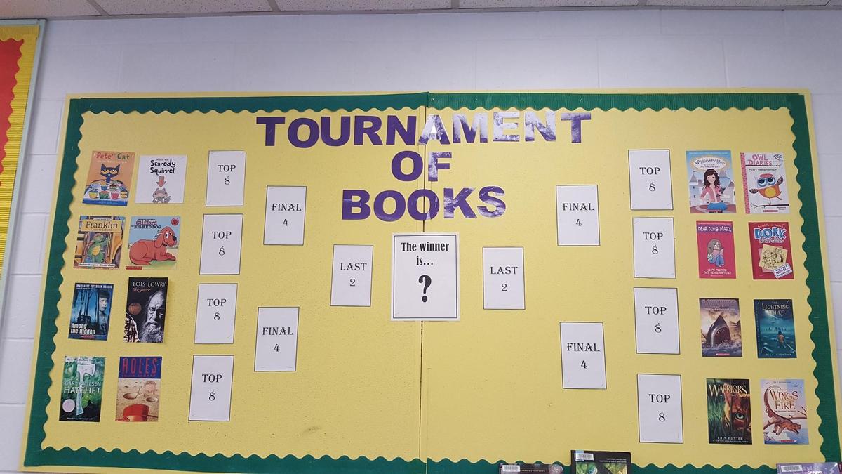 Tournament of books bulletin board