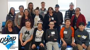 A group photo with students and educators