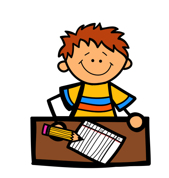 letter writing child